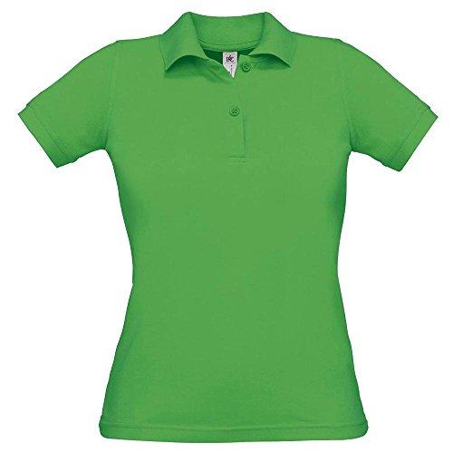 B&C - Polo - Col Polo - Manches Courtes - Opaque - Femme Vert