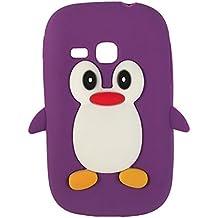 SKS Distribution® La caja del teléfono del silicón del pingüino púrpura / cubierta para Samsung Galaxy Young S6310