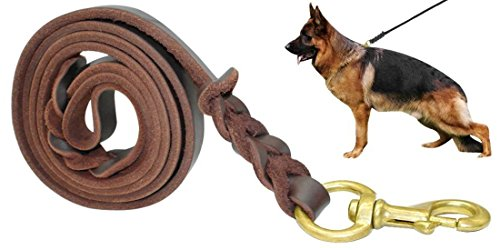 fairwin-braided-leather-dog-training-lead-17m-best-military-grade-heavy-duty-dog-leash-for-large-med