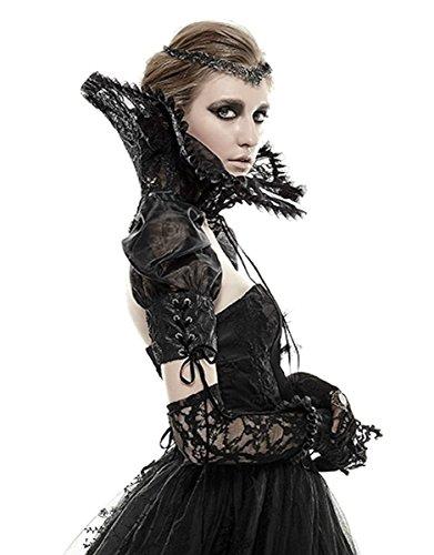 Dark Dreams Gothic Steampunk Neo Victorian Vampir Burlesque Bolero Ärmel Punk Rave 34 36 - Victorian Burlesque Kostüm