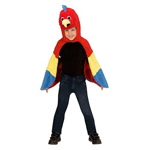 kostüm Papagei aus Plüsch, Umhang mit Kapuze und Maske (Die Kapuze Kostüme)
