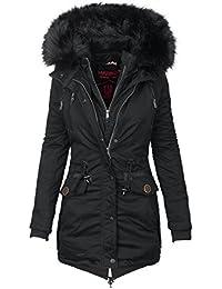 Marikoo Damen Designer Winter Jacke warme Winterjacke Parka Mantel B390 bd884c8794