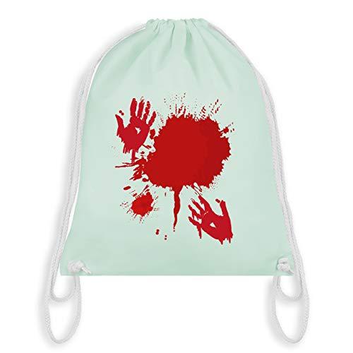 Halloween - Blutig Fasching Kostüm - Unisize - Pastell Grün - WM110 - Turnbeutel & Gym Bag
