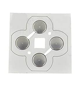 JYR Replacement ABXY Key Button Metal Dome Conductive Membrane Metal Patch for New 3DS Console