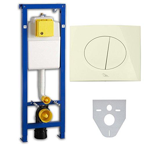 Wisa Excellent XS WC - Vorwandelement mit Betätigungsplatte pergamon inkl. Schallschutzset