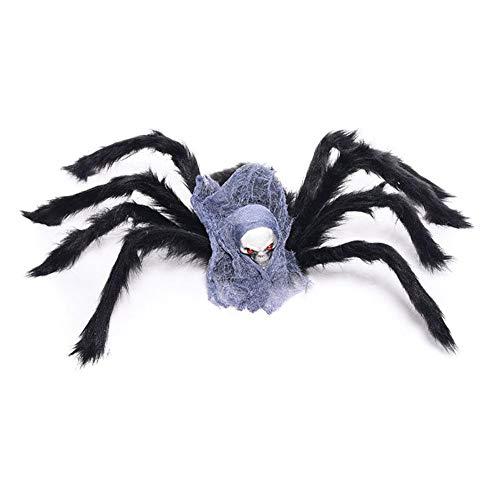 pielwaren,Terrorist Requisiten Plastikmodell scherzt Spielzeug-Spinnen-Halloween-Partei-Bevorzugung Halloween Spinne Deko Partydeko ()