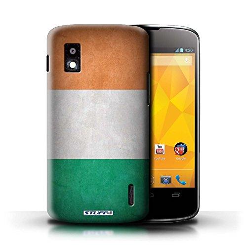 Kobalt® Imprimé Etui / Coque pour LG Nexus 4/E960 / Honduras conception / Série Drapeau Irlande/irlandais