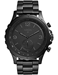 Fossil Hybrid Smartwatch Q Nate Black Stainless Steel – Men's Quartz Wrist Watch with Activity Tracker - Water Resistant