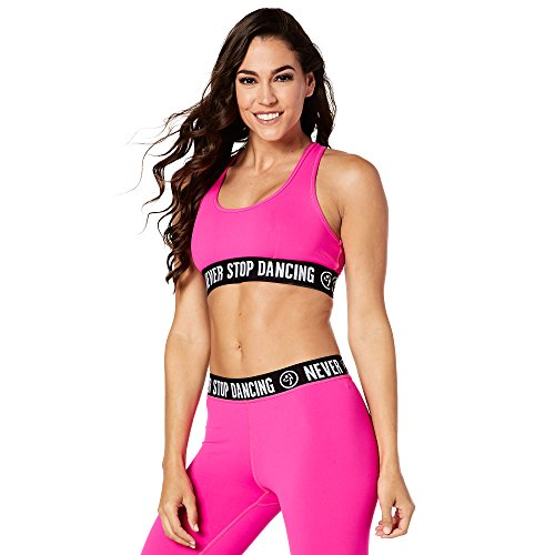 Zumba Fitness Never Stop Dancing Brassière Femme Shocking Pink