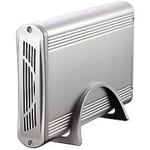 """TooQ TQE-3518S - Carcasa para discos duros HDD de 3.5"""", (IDE, SATA I/II/III, USB 2.0), aluminio, indicador LED, color plata, 350 grs."""