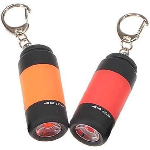 TOOGOO (R) 2X portatil USB recargable mini linterna LED de la lampara del anillo llavero linterna