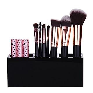 HBlife 3 Fächer Acryl Kosmetik Aufbewahrung Organizer Make up Pinselhalter Acryl Pinsel Storage Solution