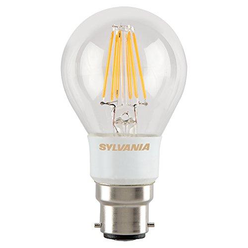Sylvania 0027132 Toledo rétro Compatible avec variateur d'intensité Doré lampe LED, verre, maison lumière, B22, 7 Watts