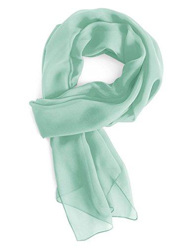 Gardenwed Damen Chiffon Schal Tücher Stola Scarves für Brautkleider Abendkleider in 28 Farben Mint L