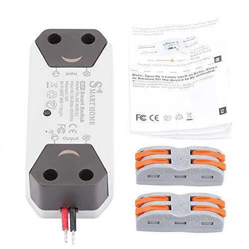FTVOGUE Smart WiFi Lichtschalter Breaker Fernbedienung Home Automation Outlet Timer Kompatibel mit Alexa Google Home No Hub benötigt