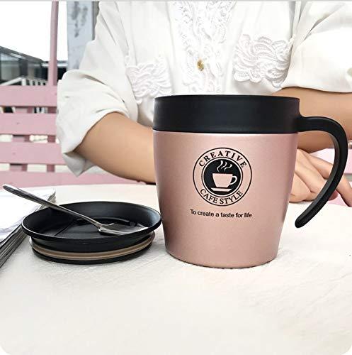 Winpavo Becher Kaffeetassen Tassen Kaffeetasse Becher Isolierungschale Tasse Weiblich Edelstahl,...