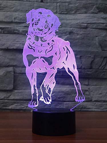 Netter Hund 3D -Nachtlicht LEDUSB Retriever Tier Tischlampe Haustier Lampe 7 Farbe Lampe -