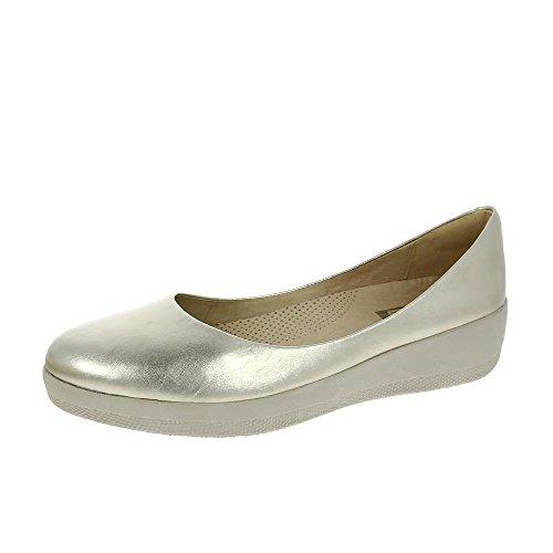 Scarpe Fitflop In Pelle Superballerina Oro Pallido UK7 Oro Pallido