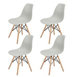 Eggree set di 4 sedie da pranzo scandinave design sedia for Set sedie cucina