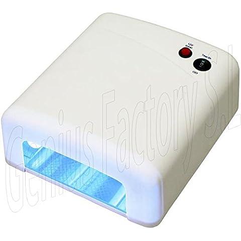 Genius Factory® Lampara 36W Ultravioleta UV Secador de Uñas para Manicura Gel Esmalte Permanente + Regalo de