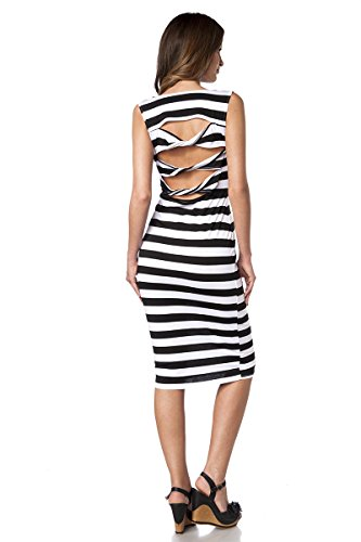 Angies Glamour Fashion - Robe - Femme Noir/blanc