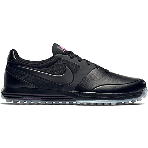 Nike Men's Lunar Mont Royal Golf Shoes, Various Colors (Black / White / Pink (Black / Black-White-Pink Pow)), 11.5