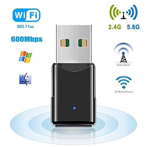 HANPURE USB WiFi, Adaptador WiFi USB 600Mbps, Mini