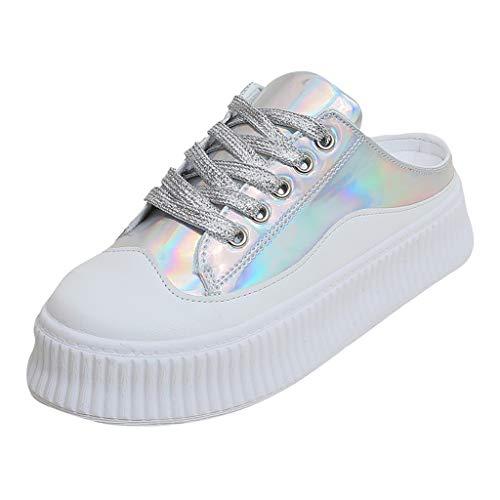 Damen Schuhe Vikky Platform Ribbon Sneaker Erwachsene Smash Sneaker Neue Mode Frauen Sommer Plattform Lace-up Runde Flache Schuhe Casual Pantoffel Laufen Sport Laufschuhe -