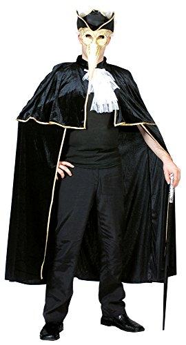Das Kostümland Venezianischer Phantom der Oper Umhang - Tolles Cape für Karneval, Fasching oder Halloween (Phantom Halloween-kostüme Der Das Oper)