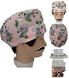 Scrub hat theatre KOALAS for Short Hair with sweatband ajutable to your liking. Handmade. Doctor, Surgery, Nurse, Veterinary, dentist