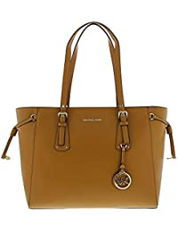 3d7fea6a6e Michael Kors Women s Medium Voyager Leather Top-Handle Bag Tote