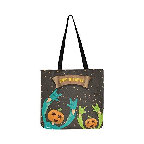 Kostüm Kreativ Teen - Vektor glücklich halloween kreative mann leinwand tote handtasche umhängetasche crossbody taschen geldbörsen für männer und frauen einkaufen tote