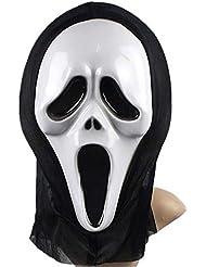 oumosi fantasma capucha Cos terroristas de calavera disfraz Halloween Cap gorro sombreros gafas de máscara de protección no Blindfold