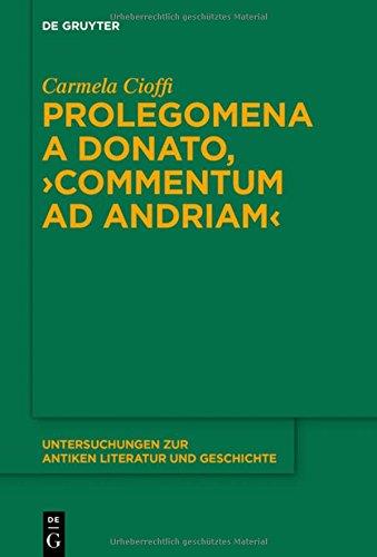 Prolegomena a Donato, Commentum Ad Andriam