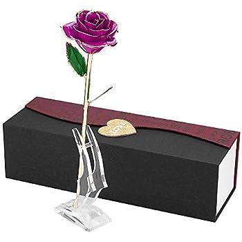 U-HOME Konservierte Rose, 24k Gold liebevolles Blumen Rose ...