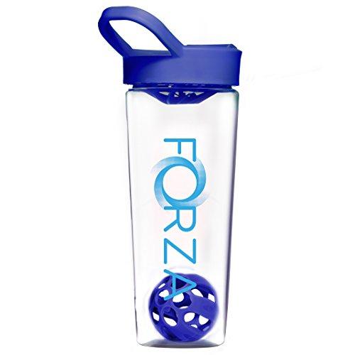FORZA FITNESS Mixball Shaker Cup - Shaker per Proteine - Mixer per Proteine - Capacità 700ml - Blu