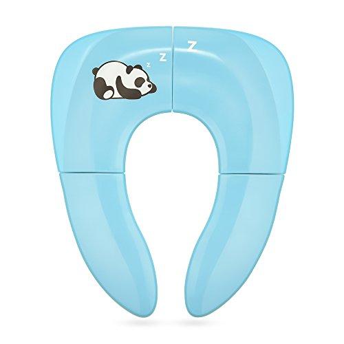faltbare toilette Jerrybox Faltbare Toilettensitze für Kinder/Baby, Tragbarer Reise WC Sitz, Kleinkind Töpfchen mit Aufbewahrungstüte, Blau