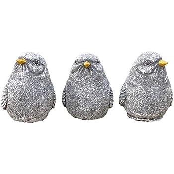 Steinfigur Spatz Vogel Tierfigur Dekofigur Gartendeko Steinguss frostfest