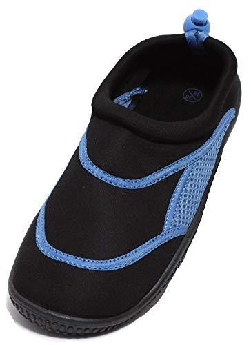 Zapato NEOPREN Unisex Aquaschuhe Gr.36-41 Badeschuhe Schwimmschuhe SCHWARZ/DEEP Blue (40/41, Schwarzblau)