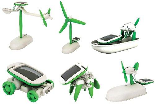 ma-on DIY 6in 1Educational Solar Kits von 6verschiedenen Modelle Roboter (grün)