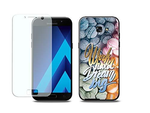 etuo Samsung Galaxy A5 (2017) - Hülle, Silikon, Gummi Schutzhülle Full Body Slim Fantastic - Arbeite an Träume