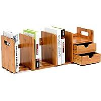 Preisvergleich für CD Aufbewahrung Regal, Likeluk Extensile CD-Regal Buch-Regal Bücherregal Aufbewahrung Holz, 51×19×22cm