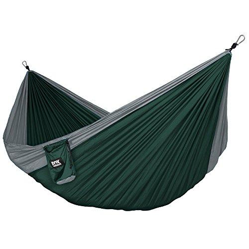 Neolite Camping Doppel-HŠngematte - Leichte, tragbare FallschirmhŠngematte aus Nylon fŸr Backpacking, Reisen, Strand, Garten. Inklusive HŠngemattenschnŸre & Stahlkarabinern