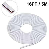 5M Porte De Voiture Protecteur De Bord Porte Garniture De Moulage Edge Guard Rubber Strip Anti-Scratch ( Couleur : Blanc )