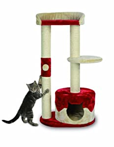 Trixie Pilar scratching post, 100 cm, beige/red by Trixie