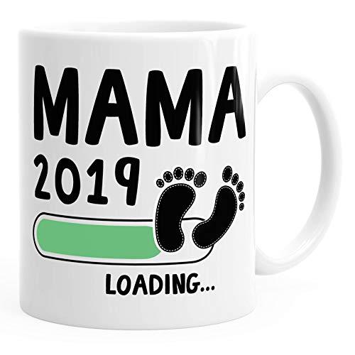 Kaffee-Tasse Mama 2019 loading Geschenk-Tasse für werdende Mama Schwangerschaft Geburt Baby MoonWorks® weiß unisize