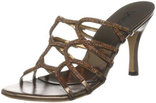 Unze Evening Sandals, Sandali col tacco donna Marrone (Braun (L18541W))