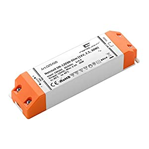 empresas envios internacionales: RandLight SN-12030-Slim RL#025426 - Transformador (12 V, 2,5 W, 30 W)