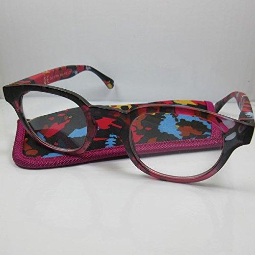 Coole bunte Lesebrille mit Federbügel Lesehilfe für SIE & IHN 3 Modelle Etui pink-bunt +1,5