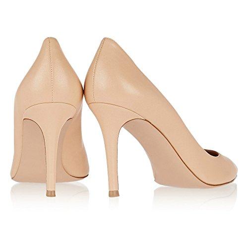 uBeauty Femmes A Enfiler Pointues Toe High Heels Escarpins Quotidiennement des Chaussures Grande Taille Beige